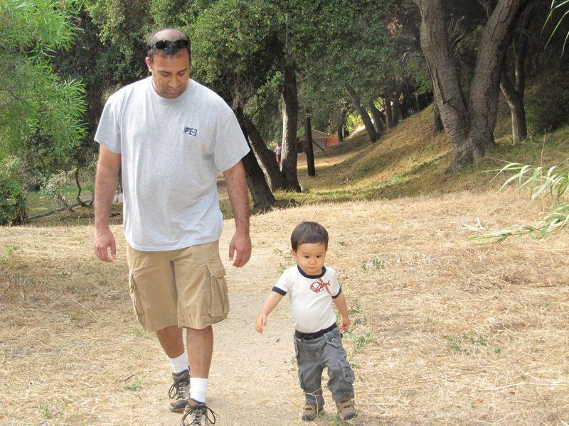 Ravi's first hiking trip to Temescal Gateway Park
