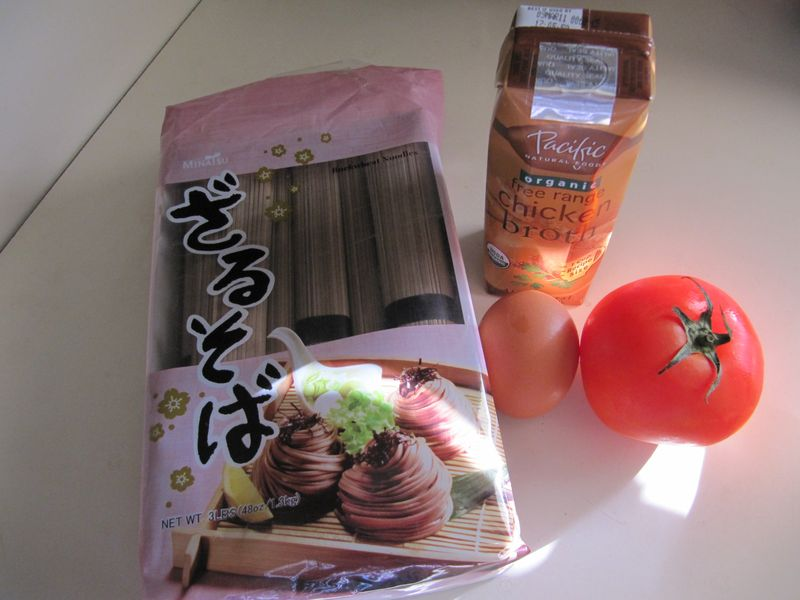 Key Ingredients to Egg Tomato Noodle Soup